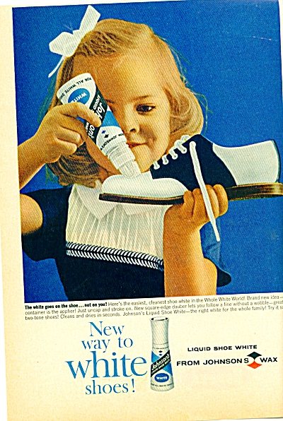 1962 - Johnson's white shoe wax ad (Image1)