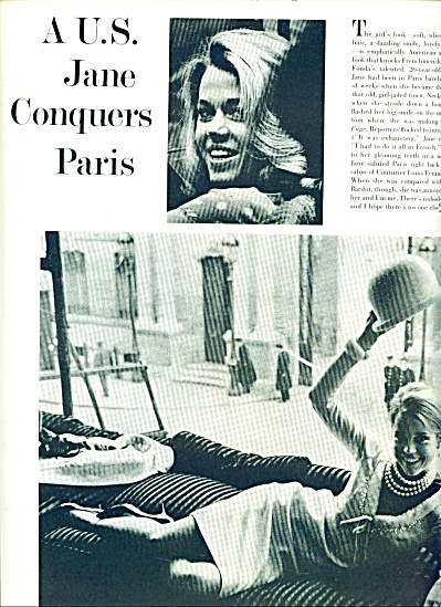 1964 -  JANE FONDA  in Paris Pic - Article (Image1)