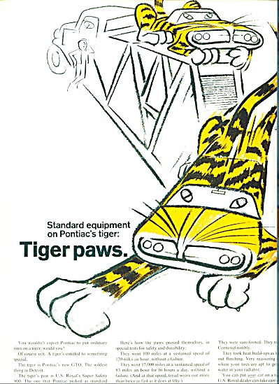 1964 - U. S. Royal Tiger Paws Ad