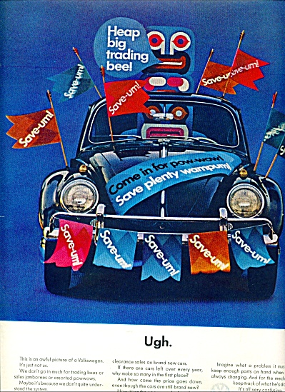 1964 - Volkswagen Ad Ughhh Indian Totem Vw