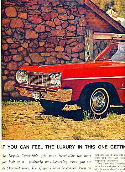 1964 -  Chevrolet Impala convertible ad (Image1)