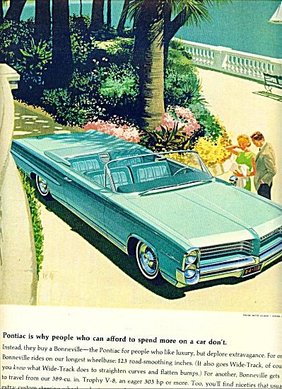 1964 -  Pontiac wide track for 1964 ad (Image1)
