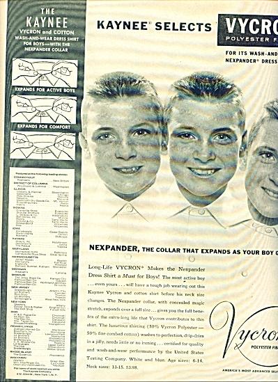 1960 -  Vycron polyester fiber dress shirt ad (Image1)