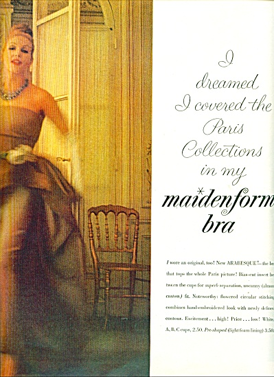 1960 = Maidenform AD I DREAMED ...  PARIS (Image1)