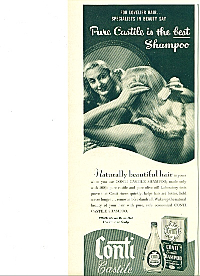 1960  Conti Castile shampoo ad Beautiful HAIR (Image1)