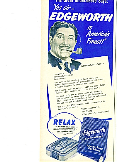 1960 -  Edgeworth pipe tobacco - HAL PEARY (Image1)