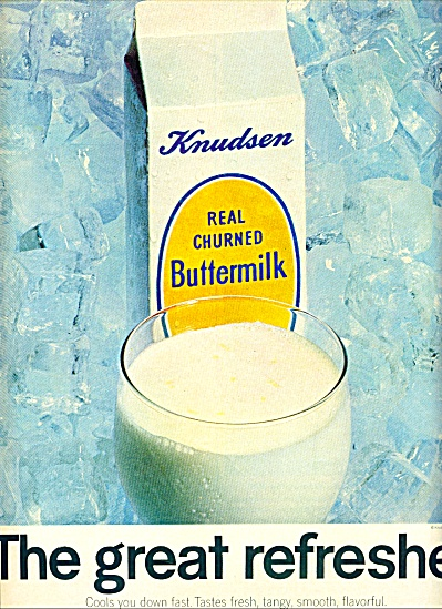 1966 -  Knudsen real hurned buttermilk ad (Image1)