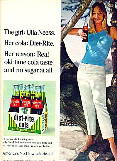 1966 -  DIET RITE AD  ULLA NEESS COVER GIRL (Image1)