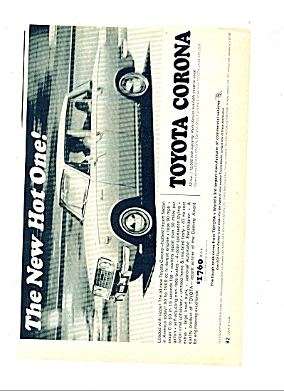 1966 - Toyota Corona automobile ad 1966 (Image1)