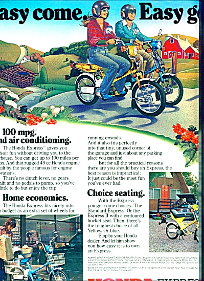 1980 - Honda Express Motorcycle Cycle ad (Image1)