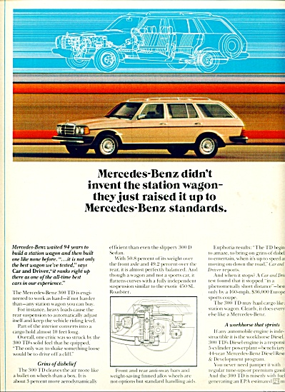 1980 - Mercedes Benz station wagon ad (Image1)