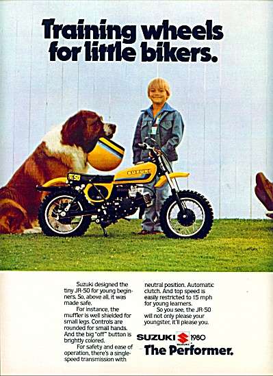1980 Suzuki JR-50 THE PERFORMER Motorcycle AD (Image1)