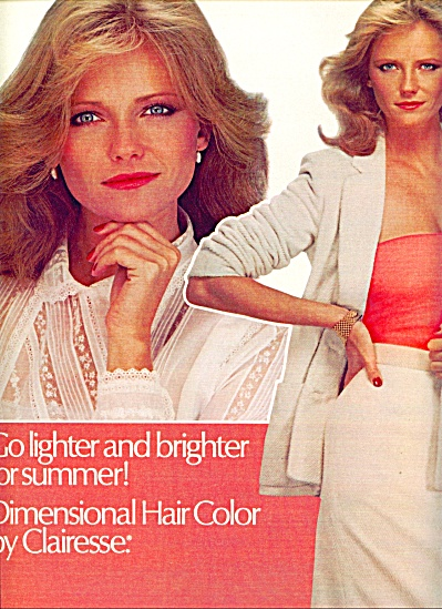 1980 - Clairesse hair color AD - CHERYL TIEGS (Image1)