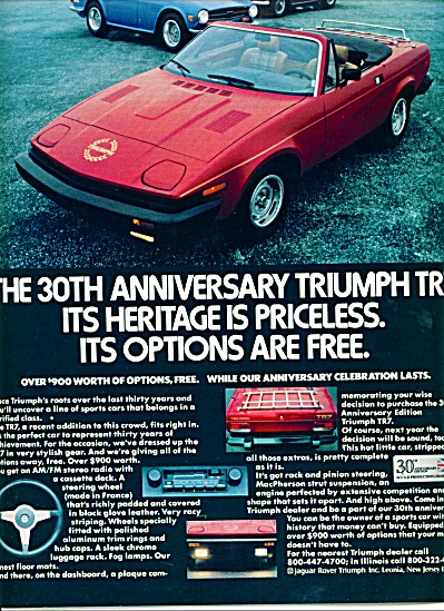 1980 -  Triumph TR7 automobile ad (Image1)