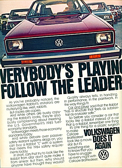 1980 - Volkswagen automobile ad (Image1)