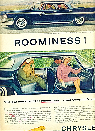 1959 -  Chrysler WINDSOR Car Automobile ad (Image1)