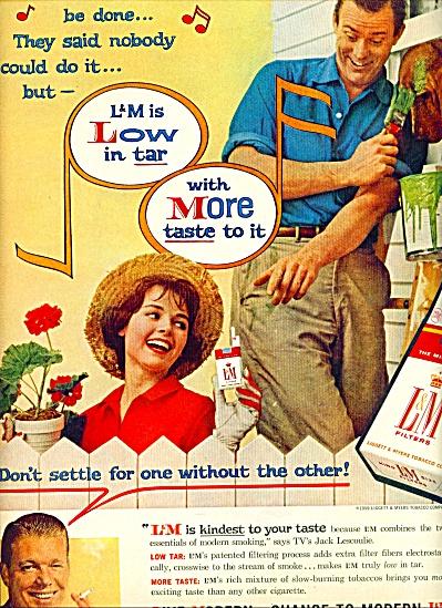 1959 - L & M. Cigarette AD w/ Jack Lescoulie (Image1)
