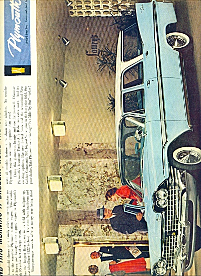 1959 -  Plymouth Station wagon ad (Image1)