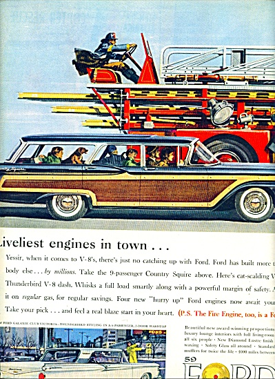 1959 -  Ford Station wagon - Galaxie ad (Image1)
