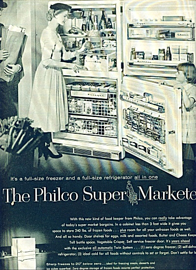 1956 -  Philco super marketer refrigerator ad (Image1)