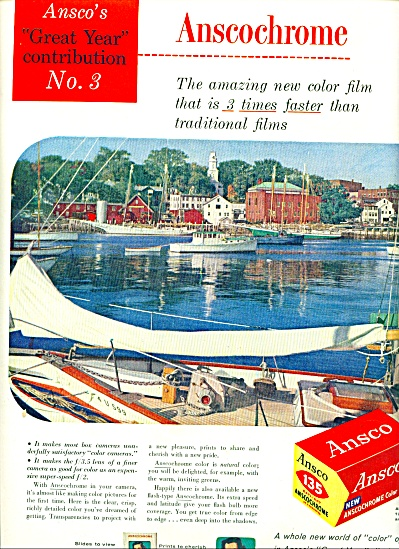 1956 - Ansco anscochrome color film ad (Image1)
