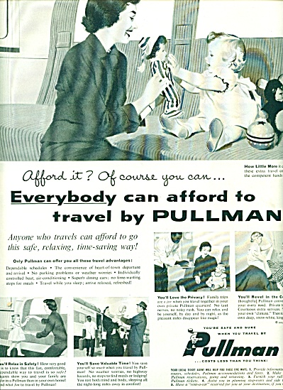 1956 Pullman Train AD BEAUTIFUL ARTWORK (Image1)