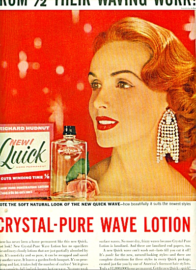 1956 Richard Hudnut new quick wave ad REDHEAD (Image1)