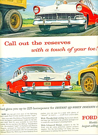 1956 - Ford V-8 for 1956 auto ad (Image1)