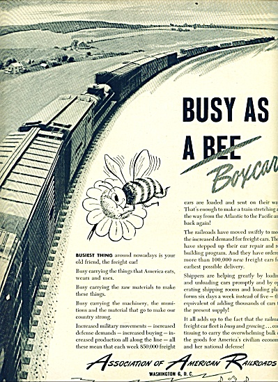 1950 -  Association of  American Railroads ad (Image1)