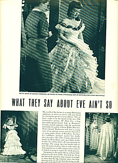 1950 -  Movie-ALL ABOUT EVE - Bette Davis Story (Image1)