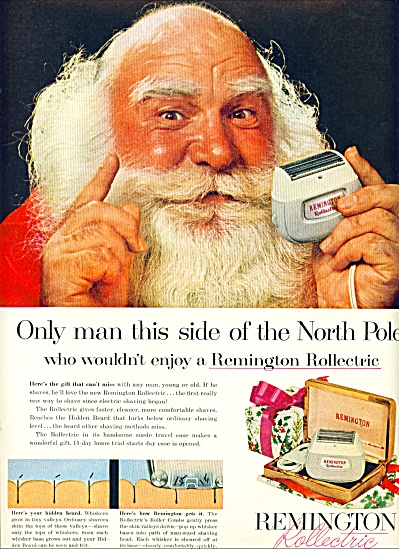 1956 - Remington Rollectric Shaver Ad