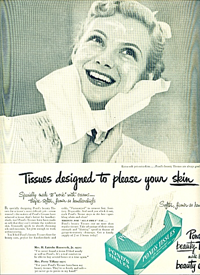 1949 - Pond's tissues ad (Image1)