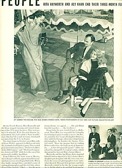 1949-  RITA HAYWORTH - ALY KHAN  story (Image1)