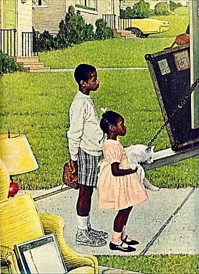 1967  Negro in the suburbs NORMAN ROCKWELL (Image1)