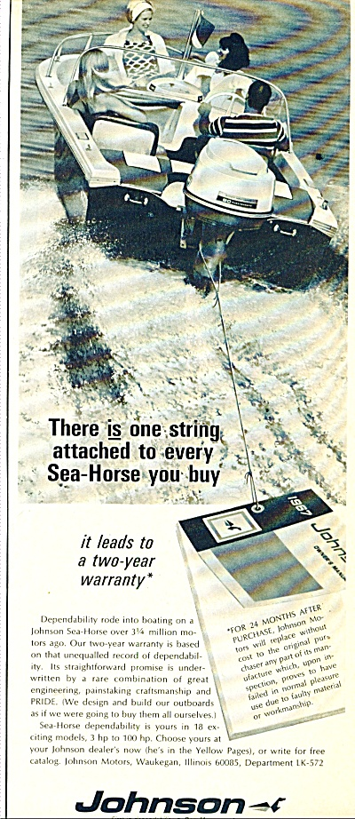 1967 -  Johnson sea horse motor ad (Image1)