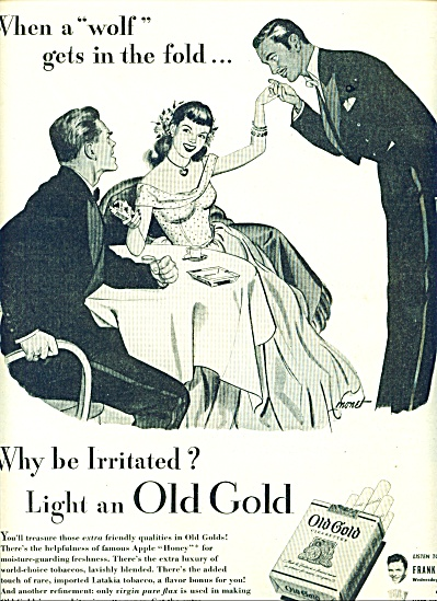1946 Old Gold Cigarettes Ad Art By Monet