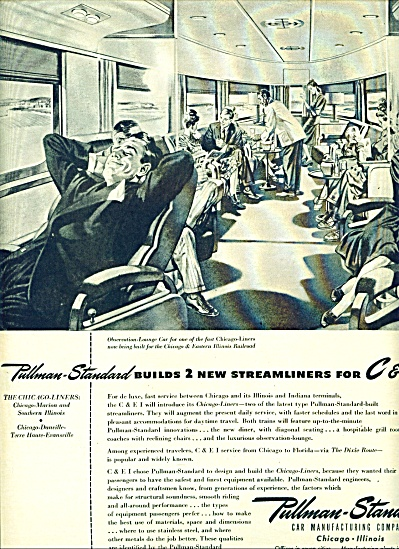 1946 Pullman Standard streamliners ad TRAIN (Image1)