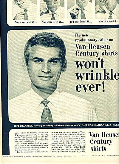 1953 - Van Heusen shirts - JEFF CHANDLER (Image1)