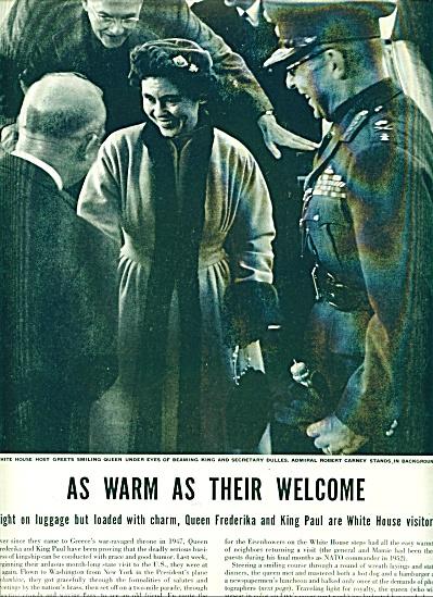 1953 - VISIT OF KING & QUEEN - GREECETO U.S. (Image1)