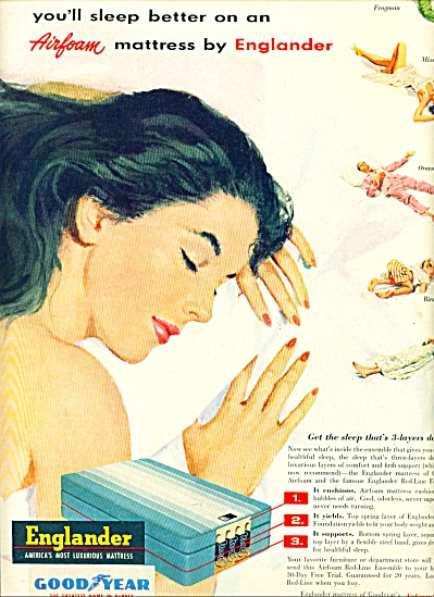 1953 -  Englander luxurious mattress ad Great (Image1)