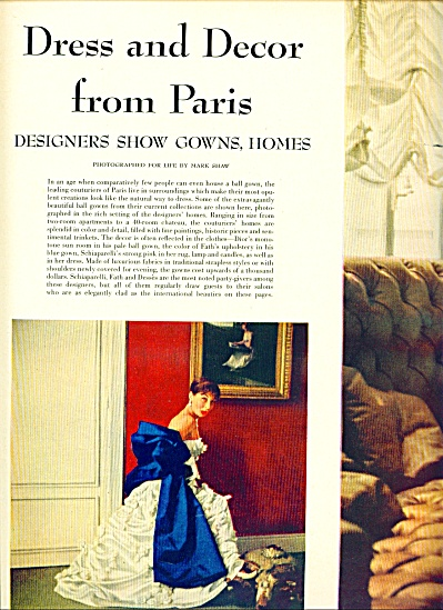 1953  FASHION DESIGNERS - MODELS Paris 7pg (Image1)