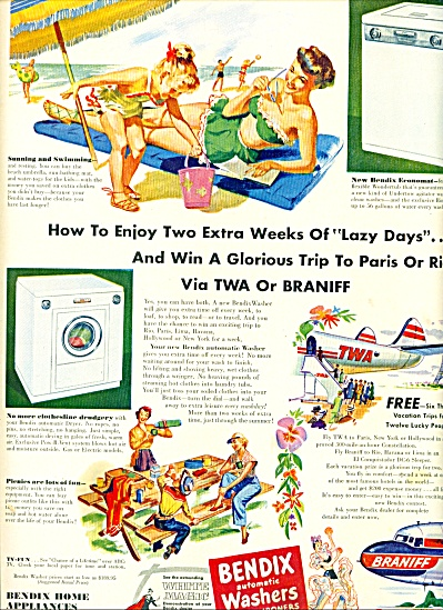 1951 - Bendix automatic washers, dryers, (Image1)