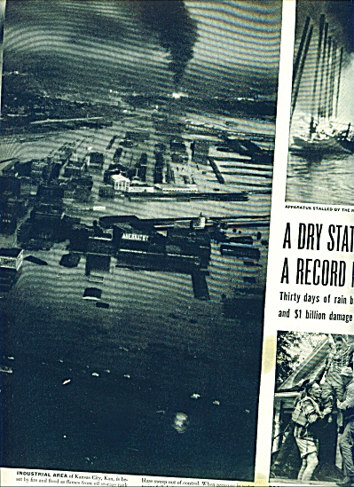 1951 - Dry State has a record flood- Kansas (Image1)