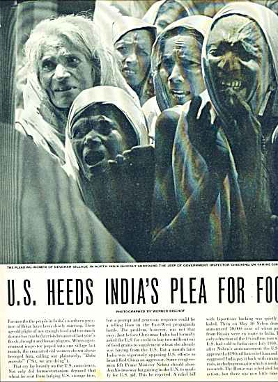 1951- U.S. Heeds India's plea for food story (Image1)