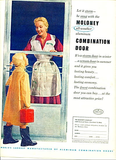 1952 -  Moloney Door AD MOM - Child CUTE Pic (Image1)
