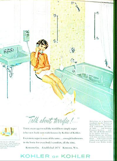 1961 - Kohler of Kohler plumbing fixtures ad (Image1)