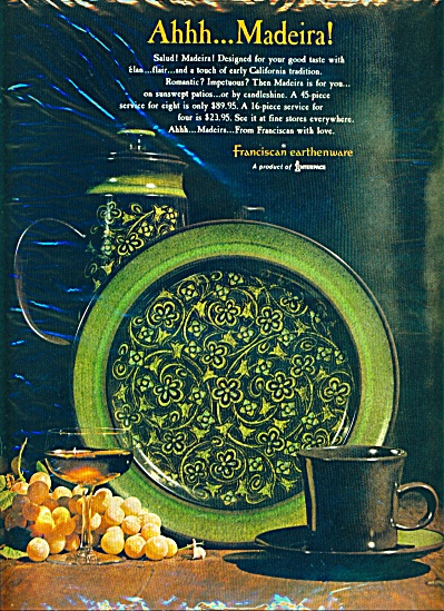 1968 - Franciscan earthenware ad (Image1)