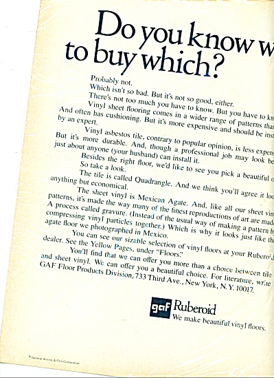 1968 - Ruberoid vinyl floors ad (Image1)