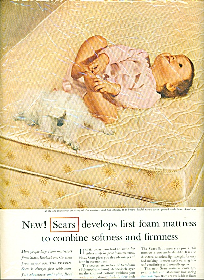 1963 -  Sears develops foam mattress ad (Image1)