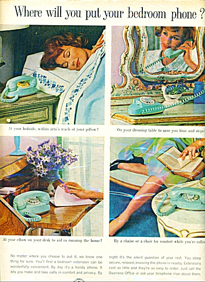 1963 - Bell Telephone system ad 4 DIFFERENT PHONES (Image1)